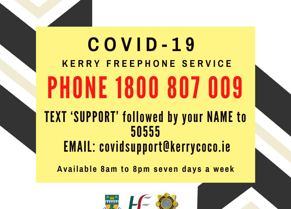 COVID-19 COMMUNITY RESPONSE – NEW FREEPHONE LINE